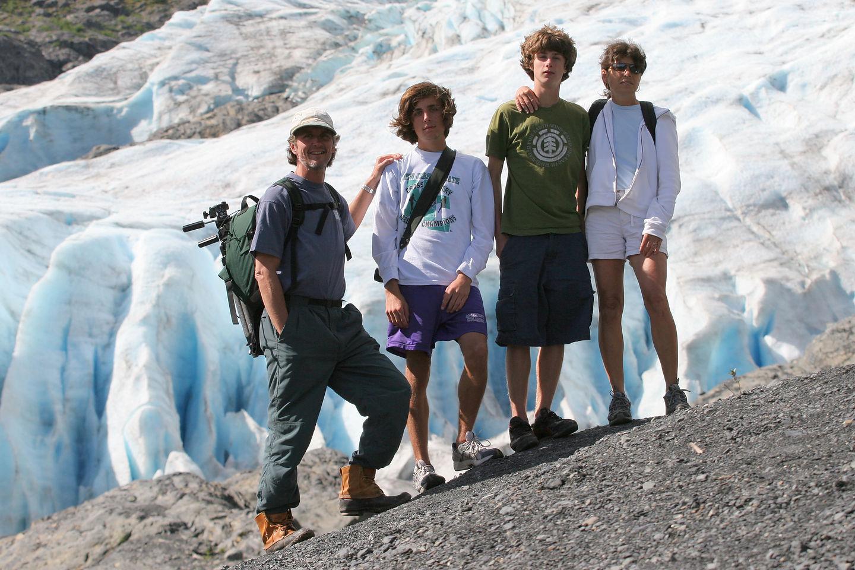 Family at Exit Glacier