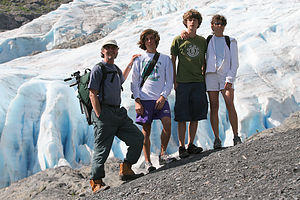 Family at Exit Glacier