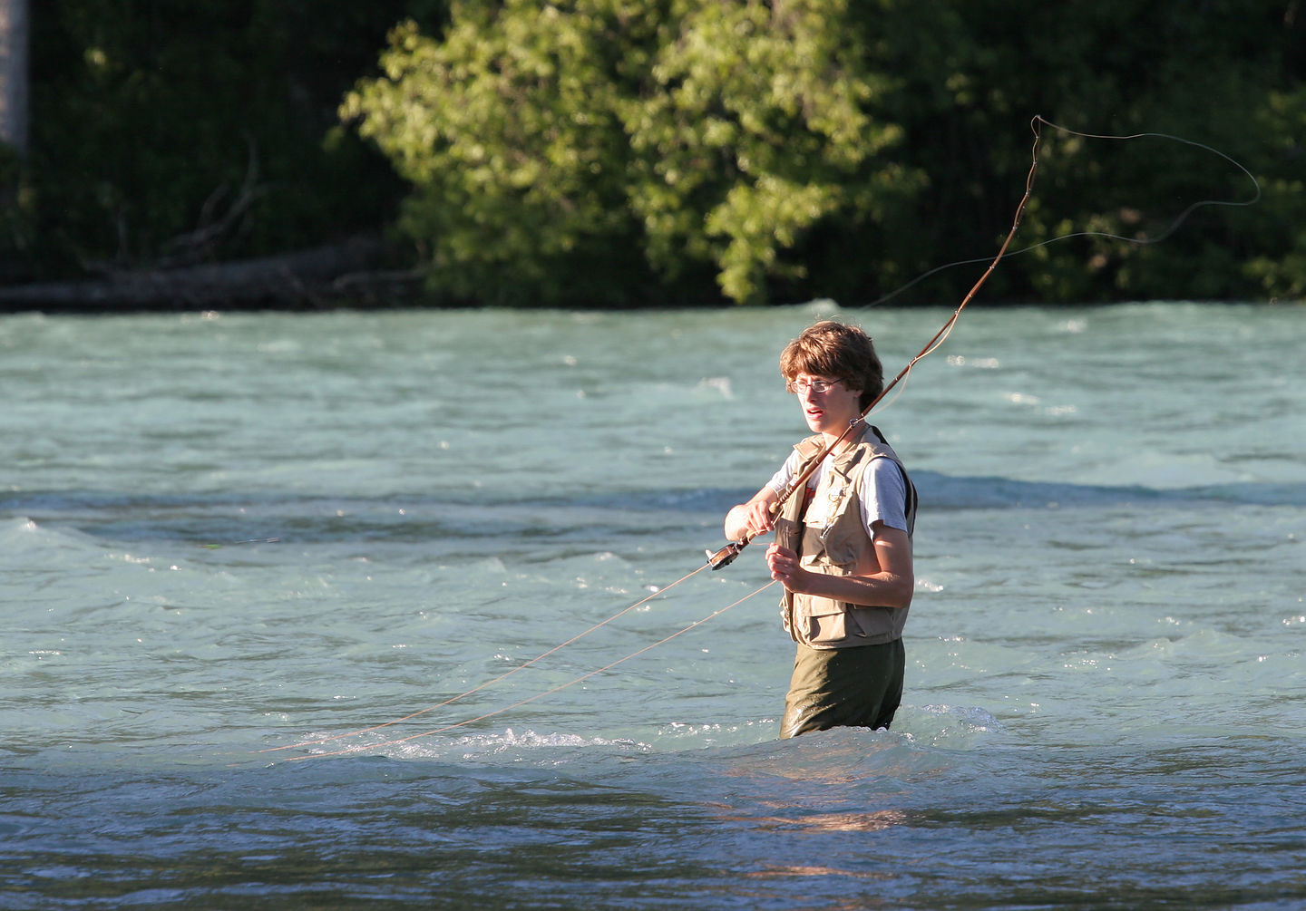Tommy fishing the Russian River