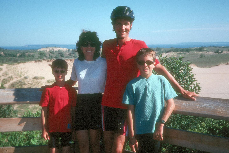 Family along the Pierce Stocking Drive