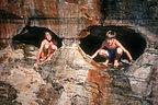 Boys in eyeglass sea caves