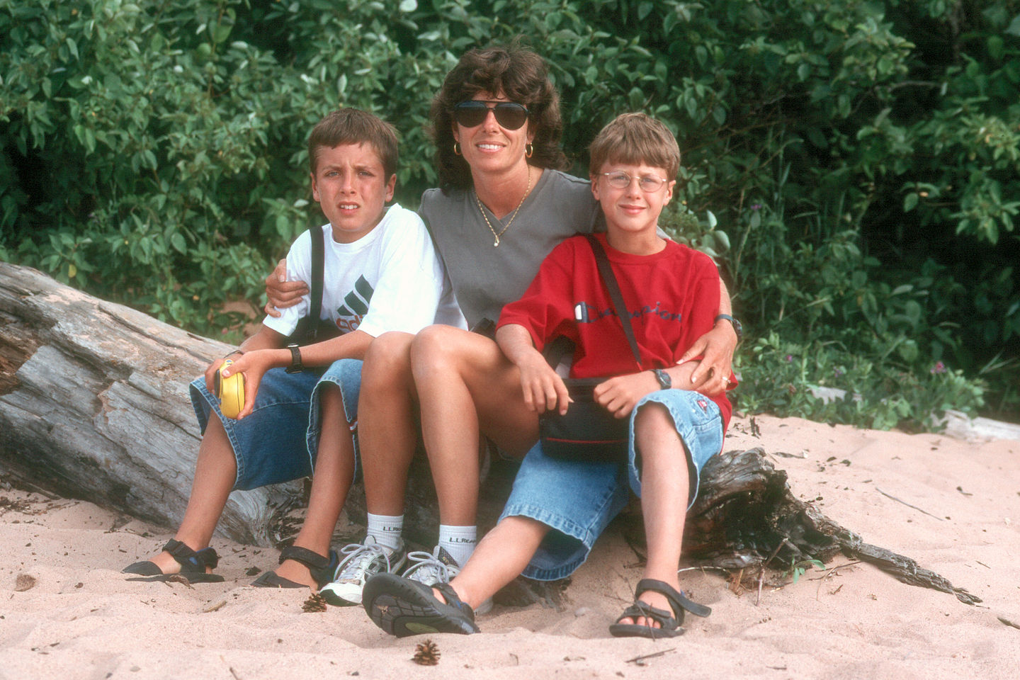 Lolo and the boys at the beach