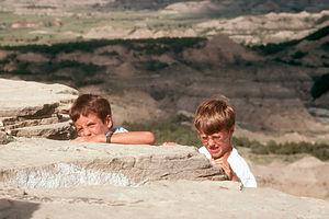 Boys climbing Theodore Roosevelt Park