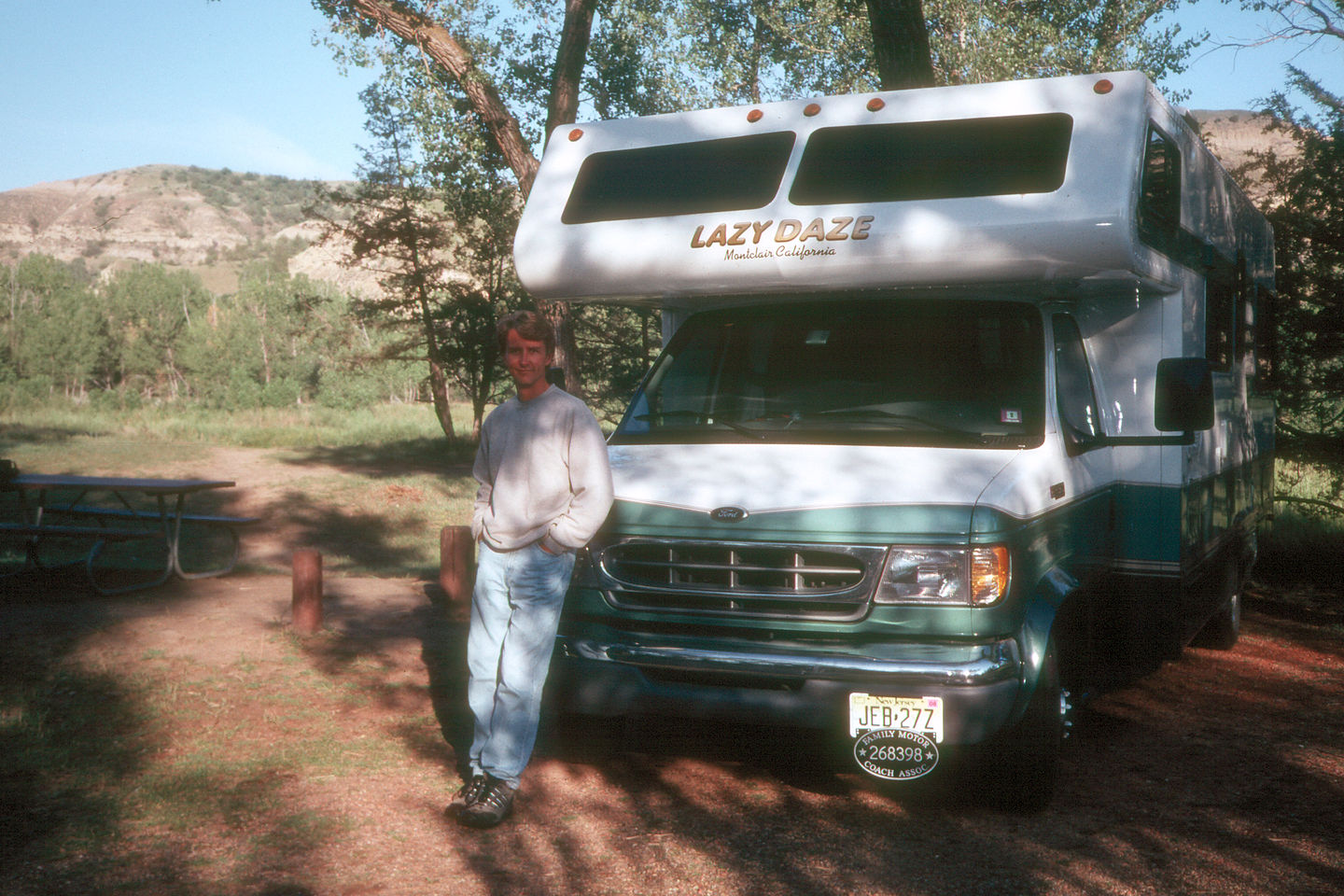 Herb and his Lazy Daze in Cottonwood Campground