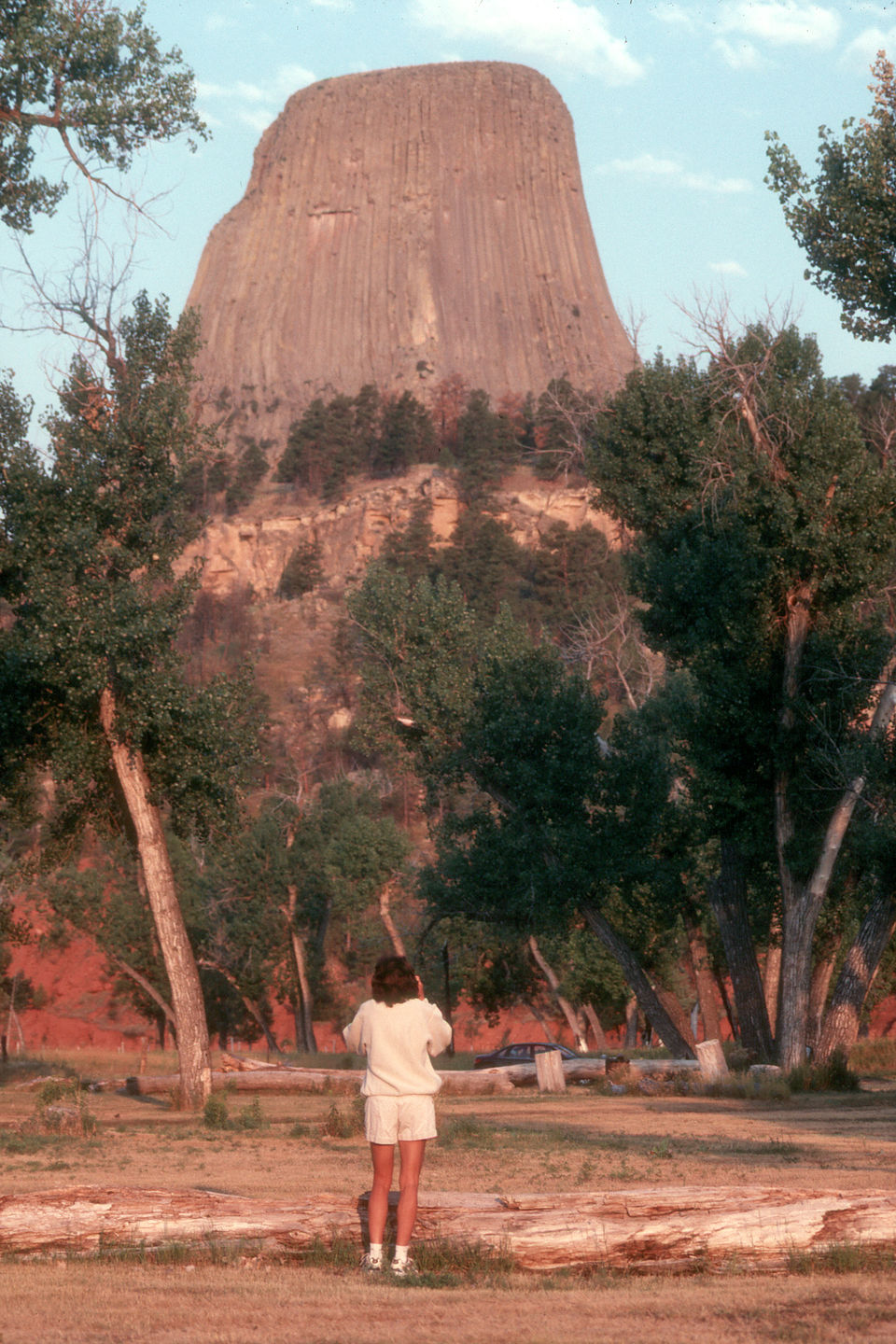 Lolo by Devil's Tower at sunrise