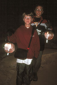 Boy's on Candlelight Cave Tour