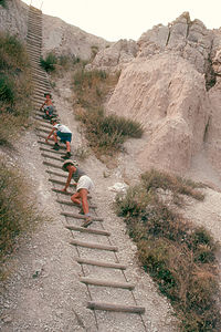 Notch Trail Shaky Ladder Climb
