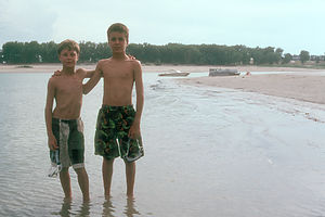 Boys at Lake McConaughy