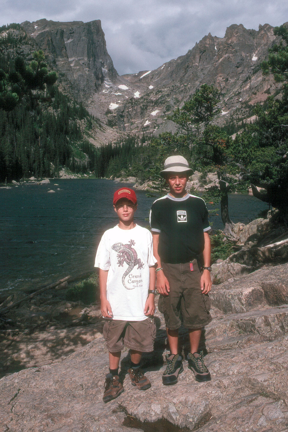 Boys along Emerald Lake Trail