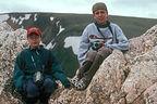 Boys at 12,000 feet on Trail Ridge Road