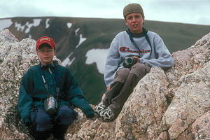 Boy's at summit of Alpine Ridge Trail