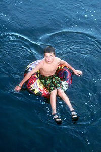 Andrew Tubing the Yampa