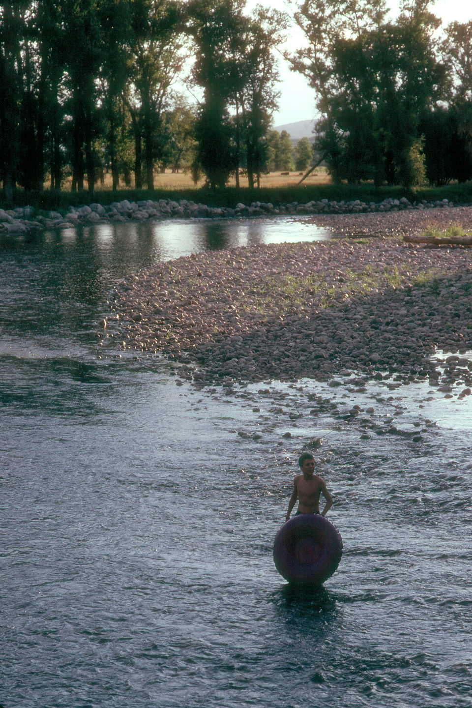 Tubing the Yampa River in the campground