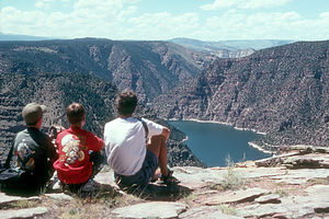 Flaming Gorge view at Visitor Center