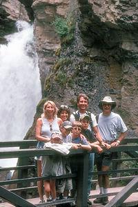 Gang hiking Johnston Canyon