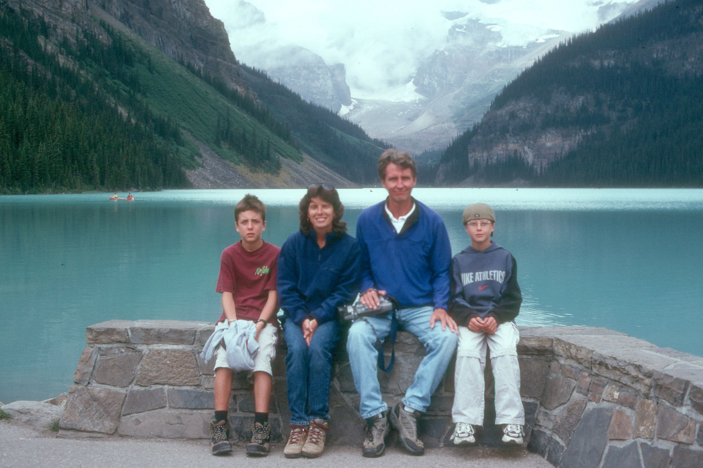 Gaidus Family by Lake Louise