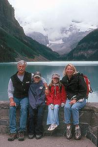 Kalchbrenner Family by Lake Louise