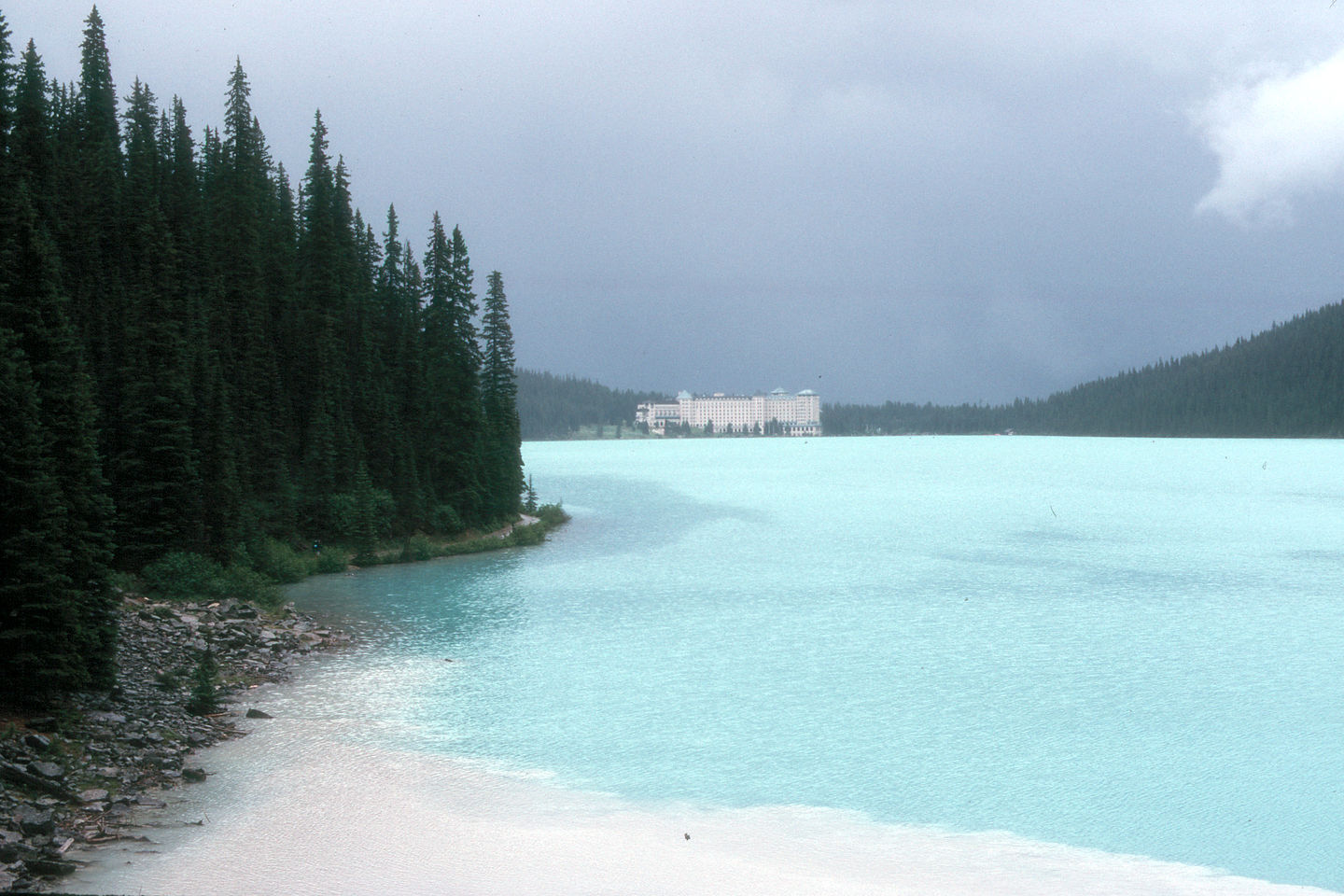 View of Lake Louise from Lakeshore Trail