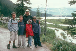 Michelle and Kids at Lake Louise
