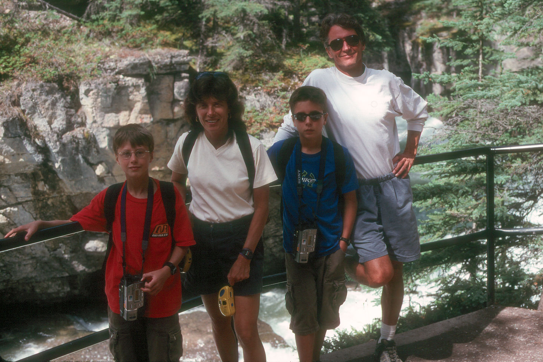Family on Maligne Canyon hike