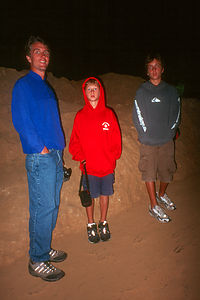 Dad and Young in Cave