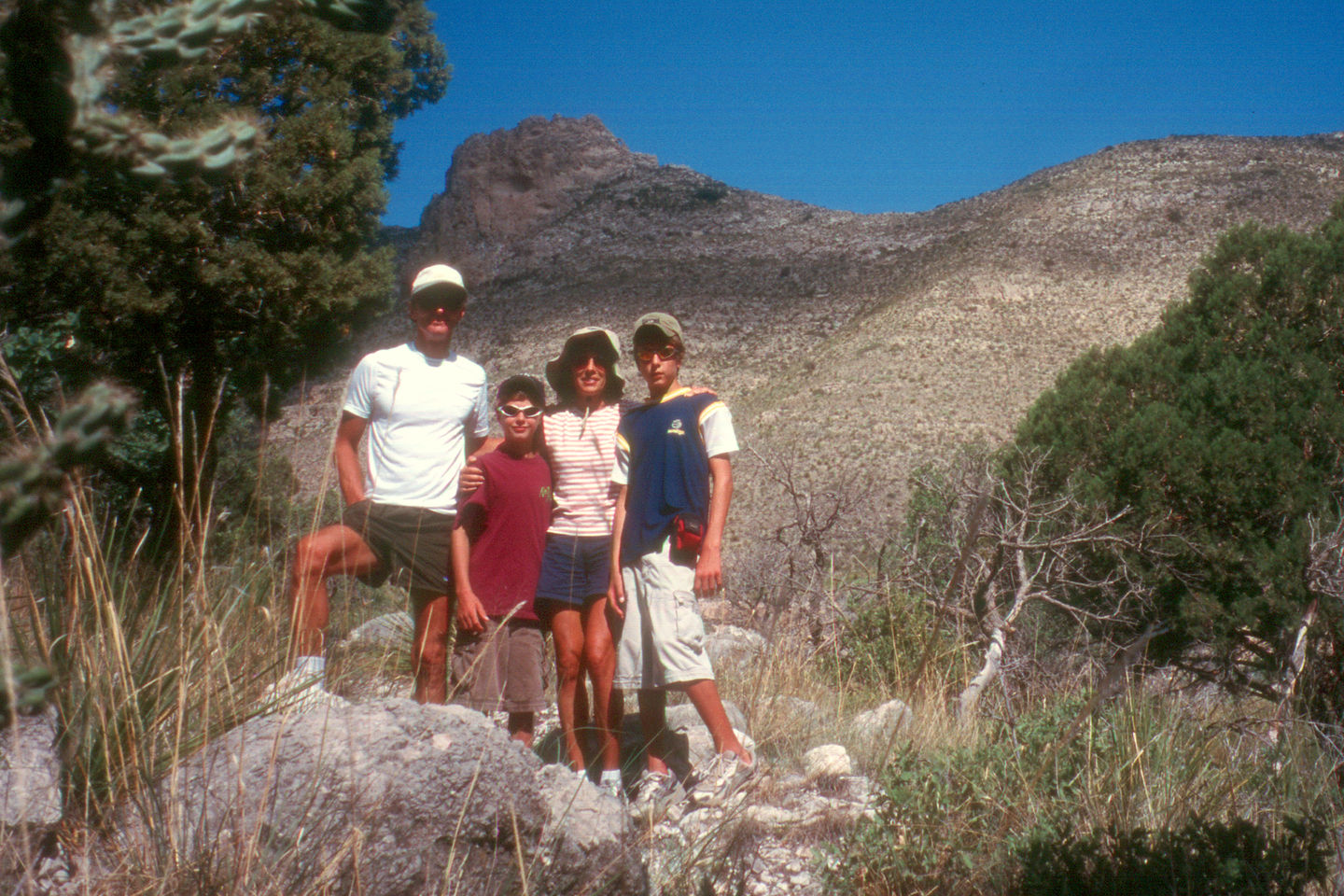 Family on the Devils Hall Trail