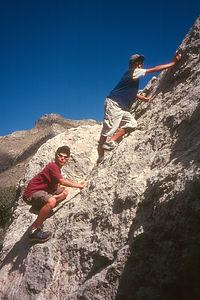 Kid's climbing Rock!