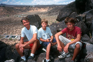 Herb and Boys on Petroglyph Hike