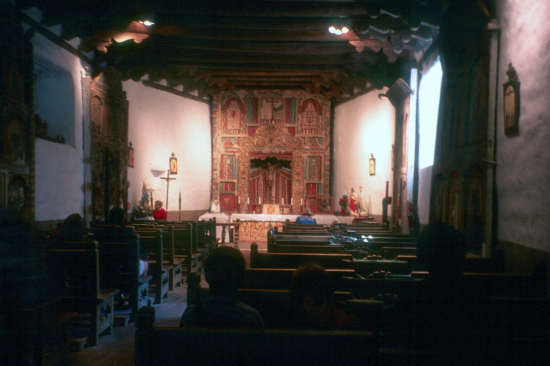 Interior of Sanctuario de Chimayo