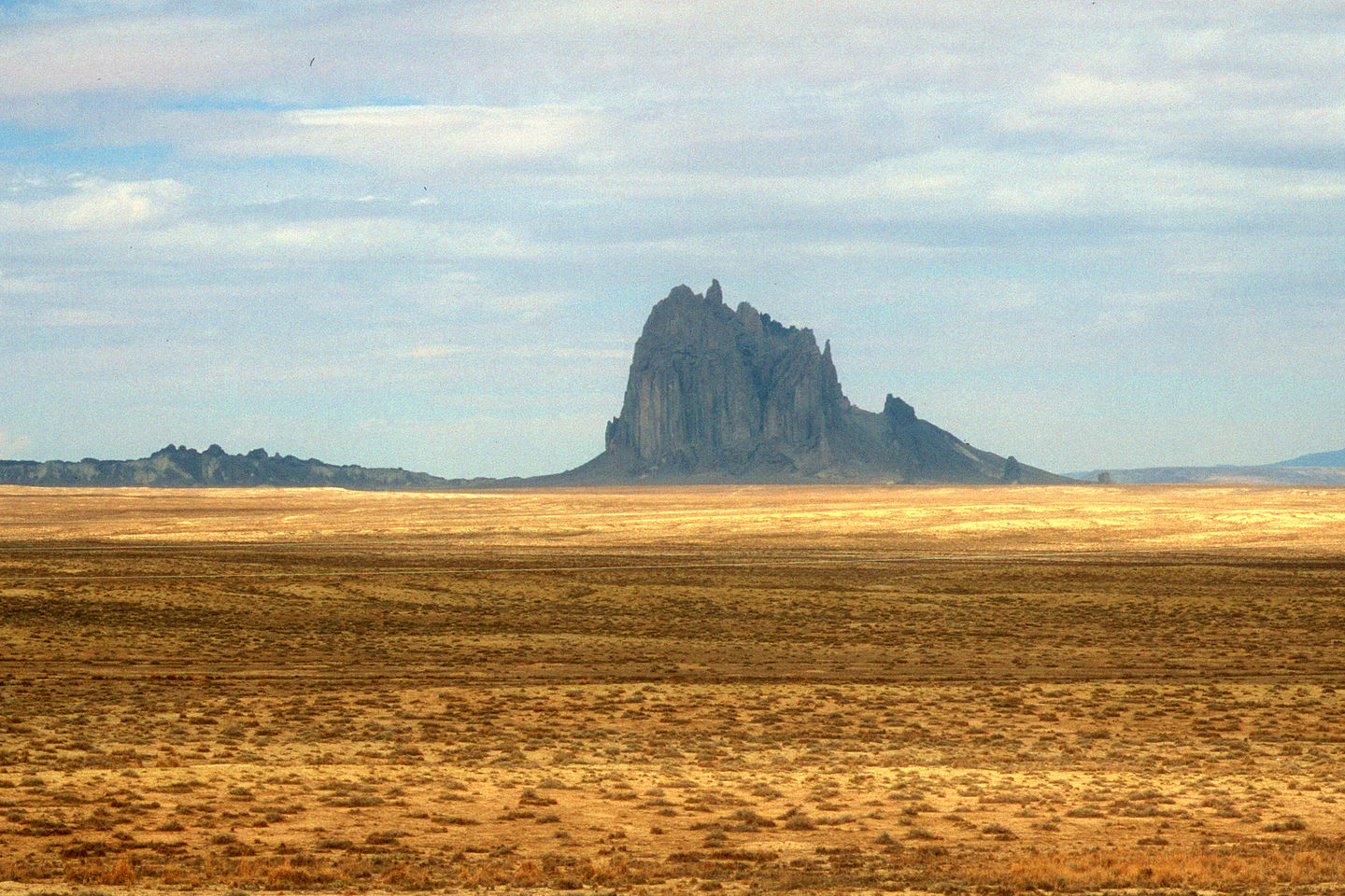 View of Shiprock from Route 666
