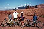 Family crazy enough to bike Monument Valley
