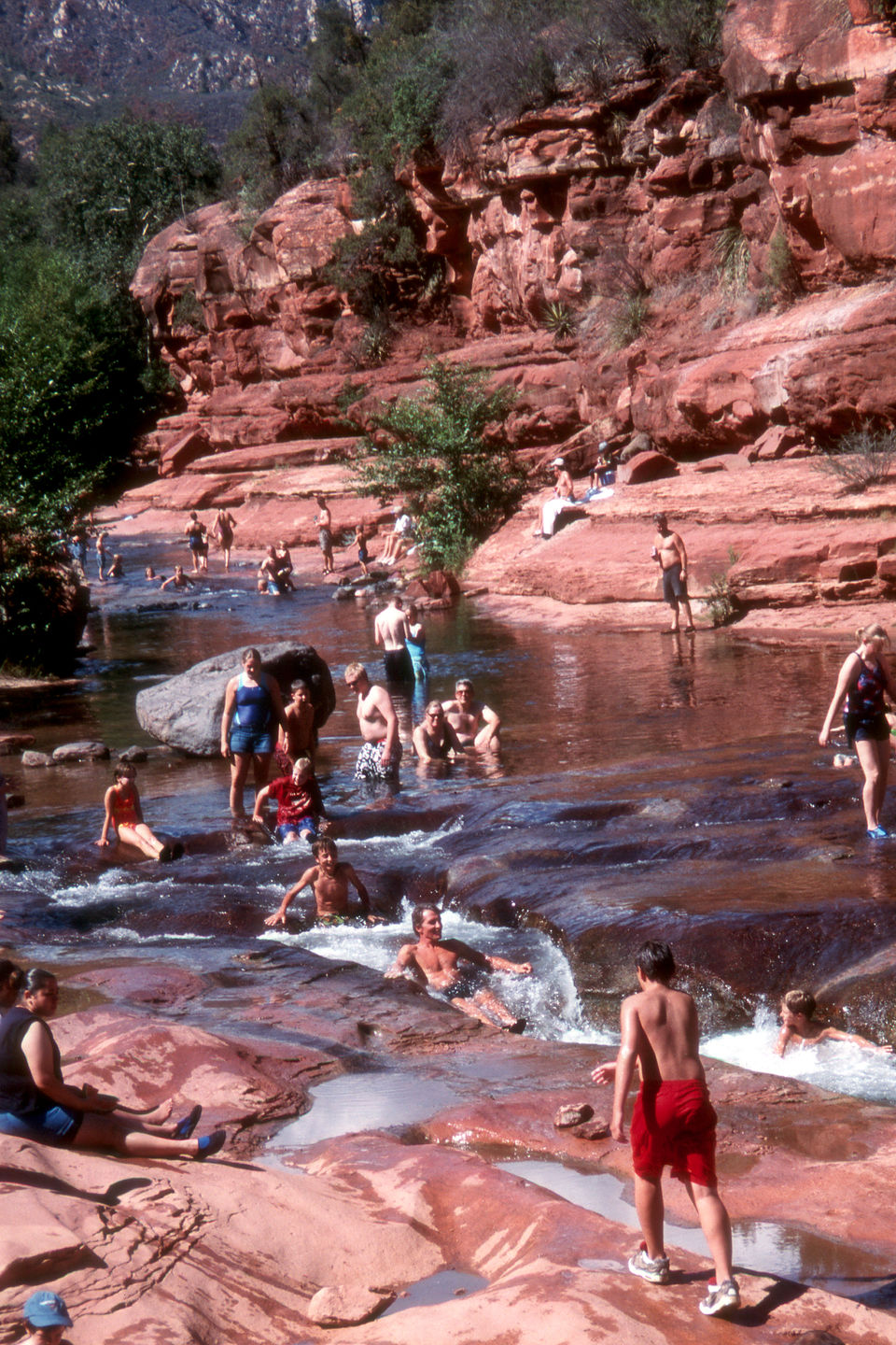 Herb and the boys enjoying Slide Rock