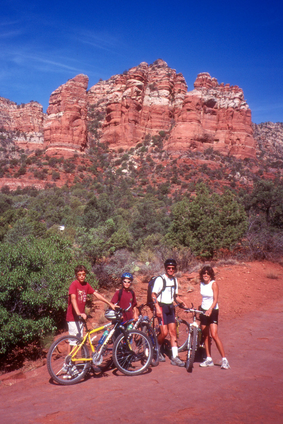 Family biking the Bell Rock Parkway