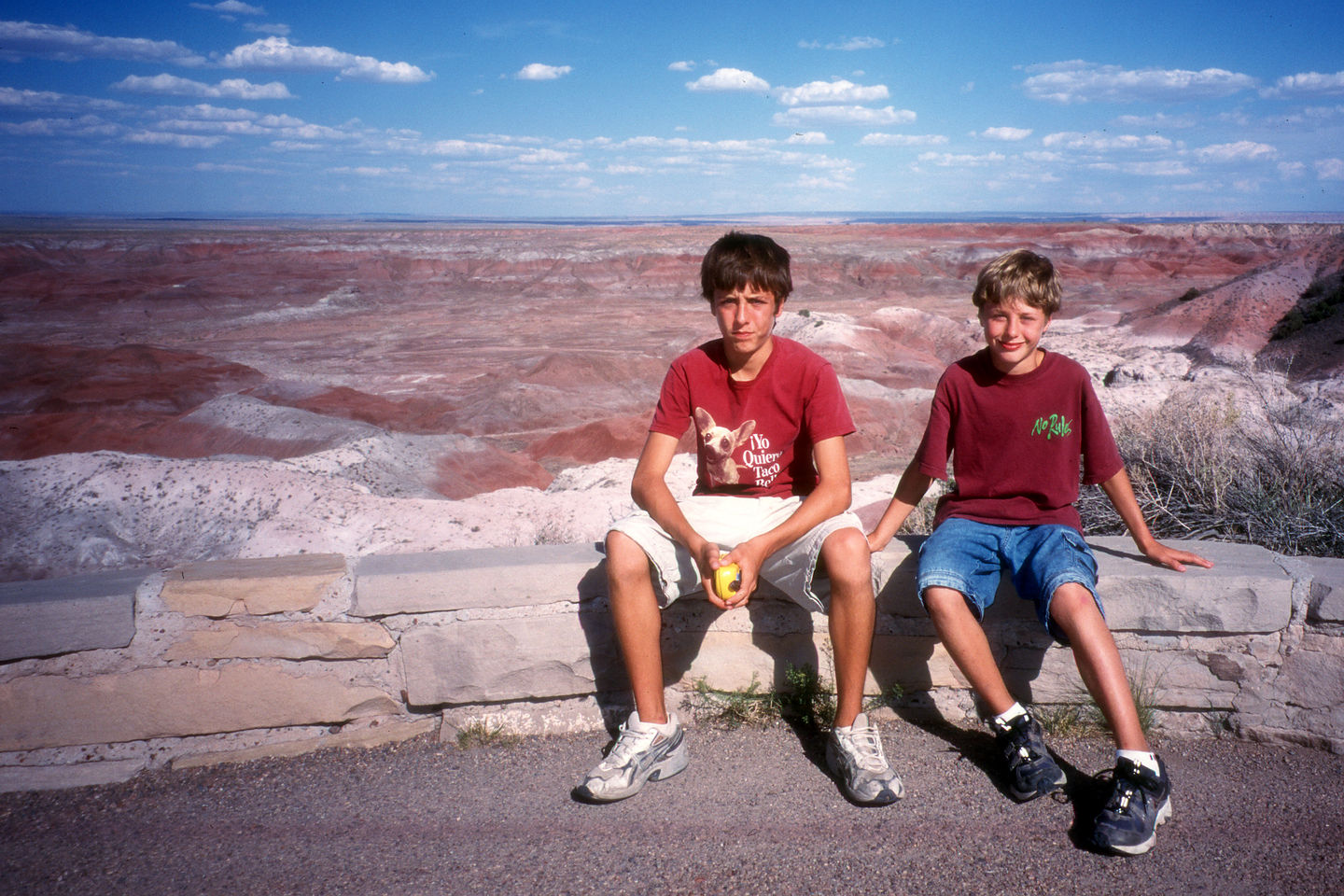 Cranky boys refusing to hike Painted Canyon