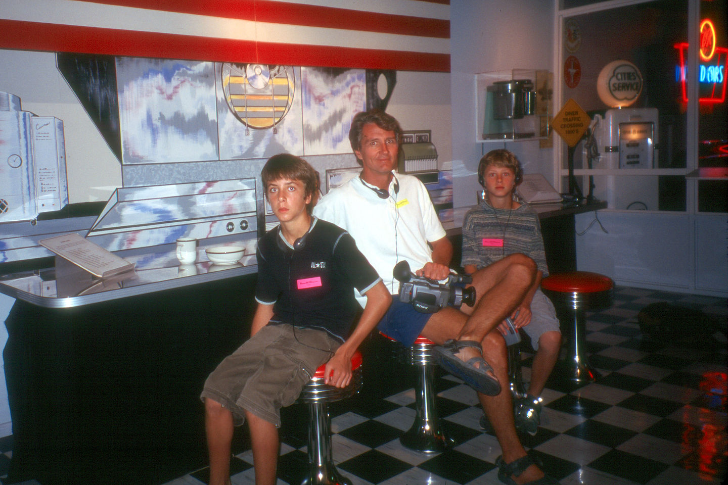 Herb and the boys at a 50s Diner