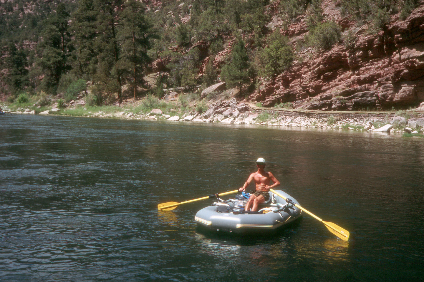 Herb and his trusty rubber boat