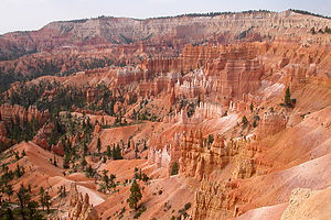 Colorful hoodoos in the amphitheater