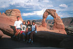 Family at Delicate Arch