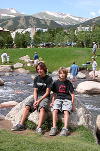Andrew and Tommy on the Blue River