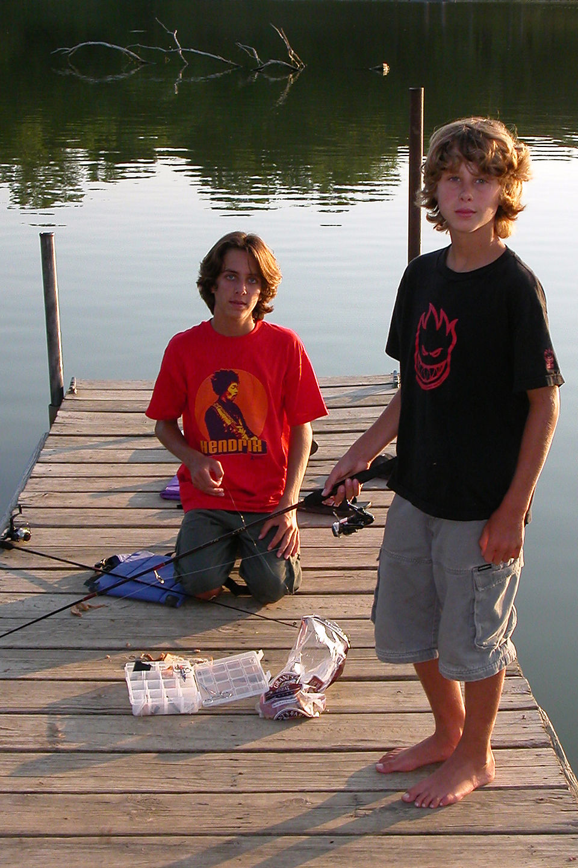 Determined fishermen