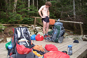 Setting up camp at Liberty Springs
