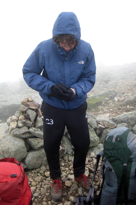 Low visibility on Franconia Ridge