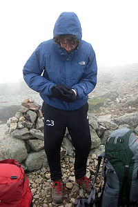 Low visibility on Franconia Ridge