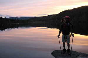 Ethan Pond at Sunset