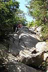 Climbing up Mt. Webster