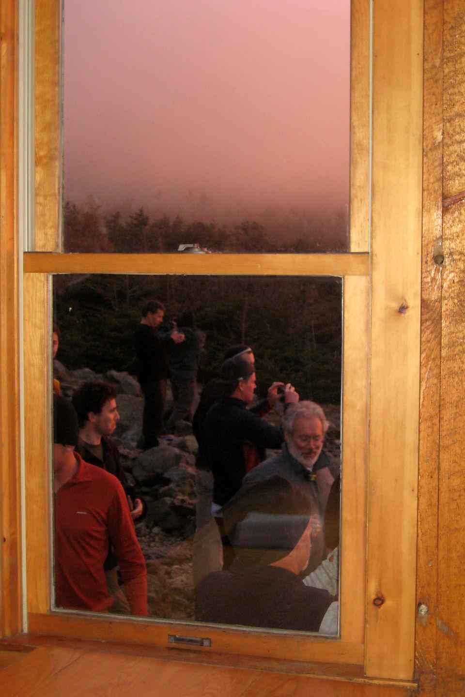 Visitors at Madison Hut
