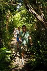 Family hiking Gumbo Limbo Trail