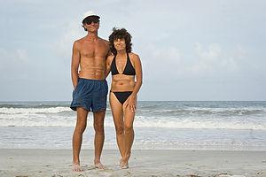 Mom and Dad on Anastasia Beach - TJG