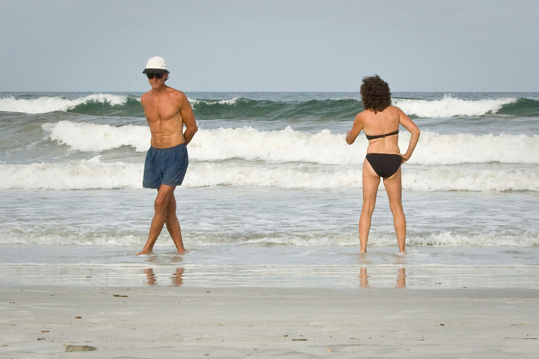Mom and Dad enjoying surf - TJG