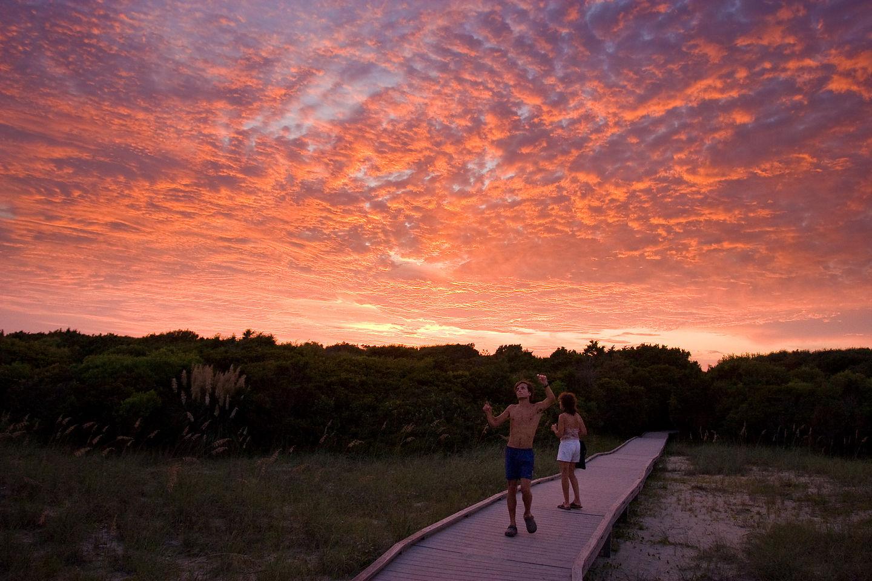 Andrew & Lolo enjoying sunset